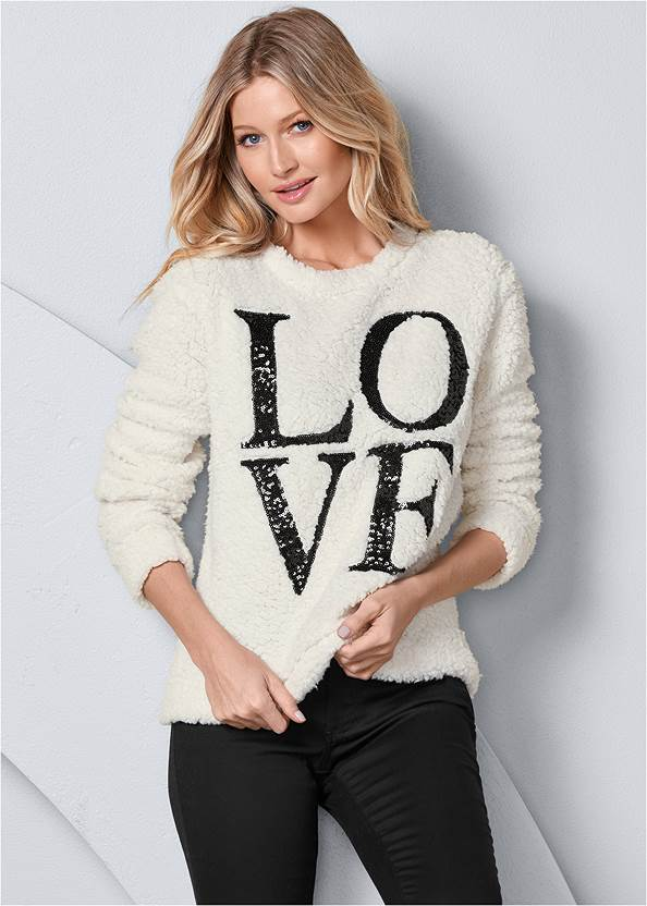 Love Cozy Sweatshirt,Mid Rise Color Skinny Jeans