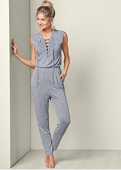 lace front jumpsuit