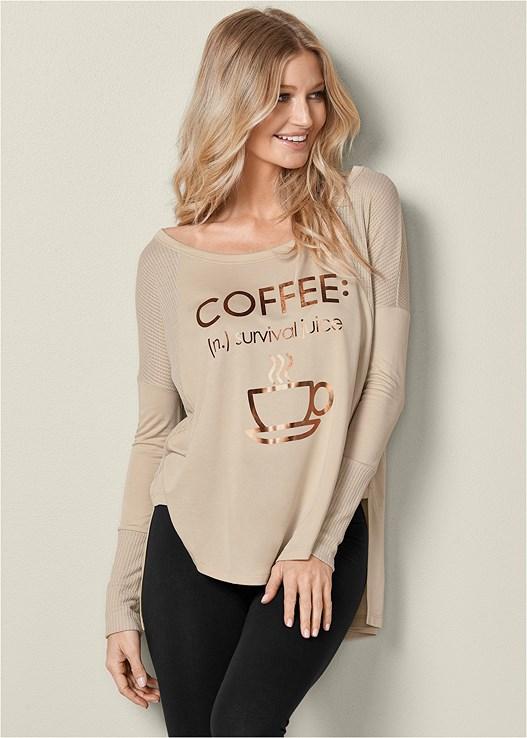 LOUNGE COFFEE TOP,BASIC LEGGINGS,VELVET SNEAKER,RING DETAIL BACKPACK