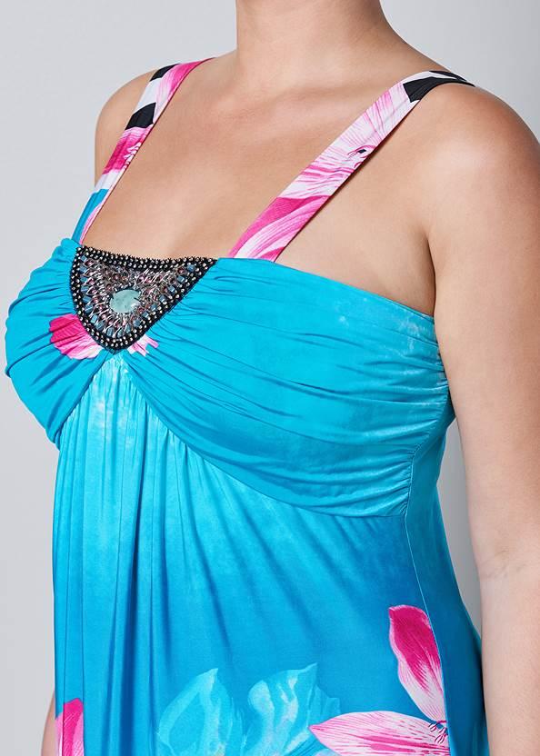 Alternate View Mixed Print Mini Dress