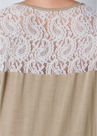 Alternate view Lace Inset V-Neck Top