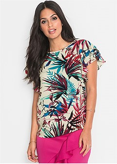 tropical printed blouse