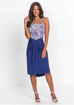 drape waist detail dress