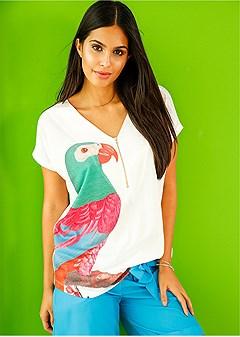 parrot print top