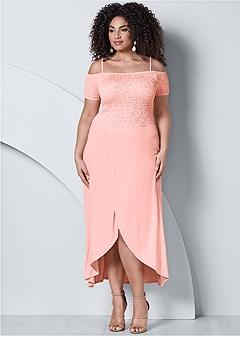 plus size off the shoulder dress