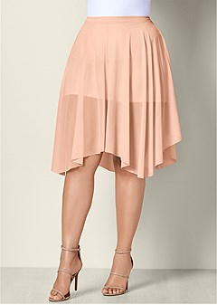 plus size mesh midi skirt