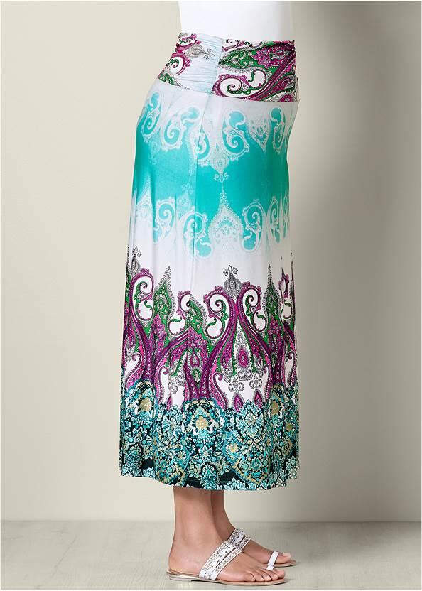 Alternate View Printed Maxi Skirt