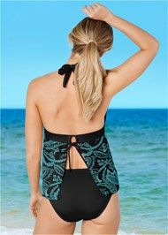 Back View Halter Tankini
