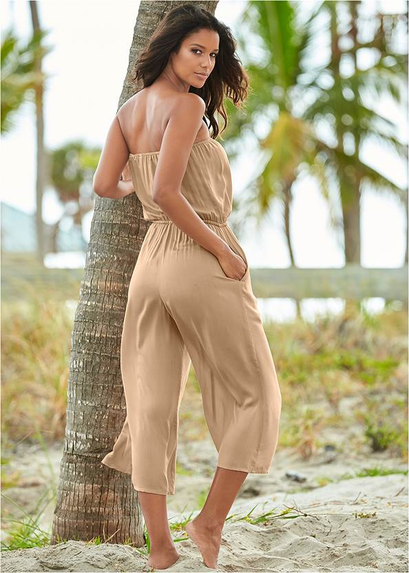 Back view Strapless Jumpsuit