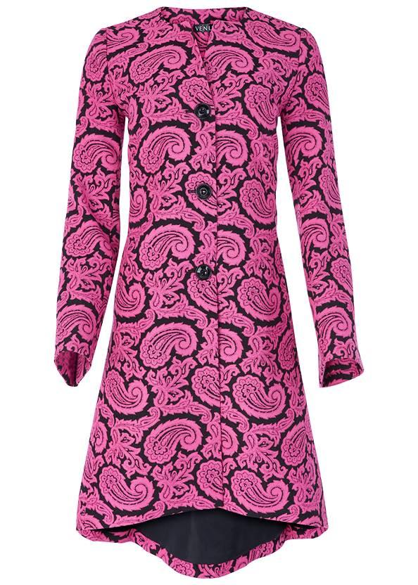 Alternate View Paisley Print Coat