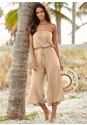 Front view Strapless Jumpsuit