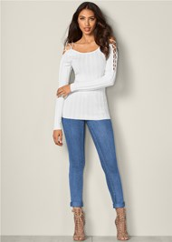 Alternate View Strappy Sleeve Sweater