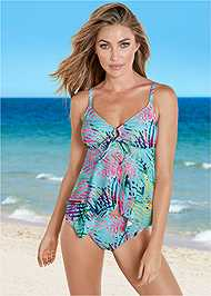 Front view Sharkbite Hem Tankini Top