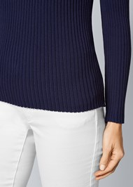 Alternate View Mock Neck Sweater