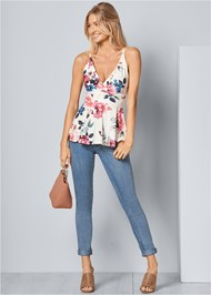 Alternate View Floral Peplum Top