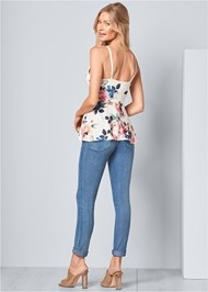 Back View Floral Peplum Top