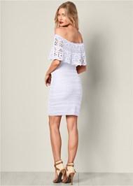 Back View Crochet Detail Dress