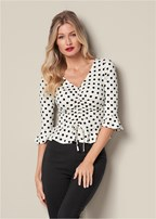 ruched peplum top