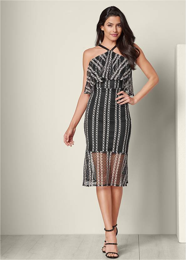 Textured Two Tone Dress