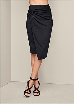 knot front skirt