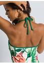Alternate View Halter Laser Cut Maxi Dress
