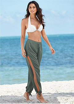 side split beach pant