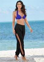 side slit beach pant