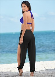 Back view Side Split Beach Pant