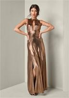 plunge detail dress