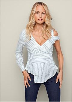 one shoulder blouse