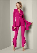 flare detail suit set