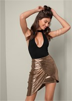 drape detail skirt
