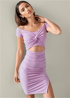 cut out knot front dress