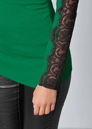 Alternate View Lace Sleeve Detail Sweater