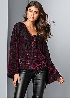 burnout velvet top