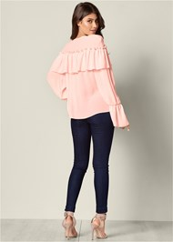 Back View Ruffle Detail Top