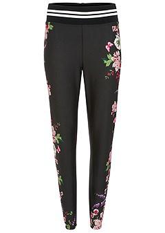 plus size floral jogger