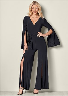 sleeve detail jumpsuit