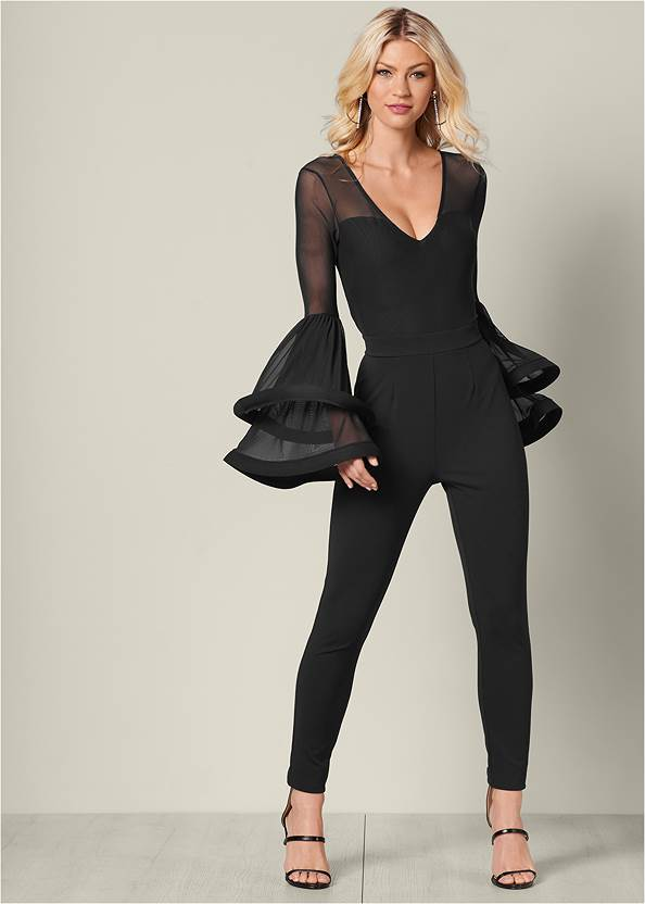 Front View Sleeve Detail Jumpsuit