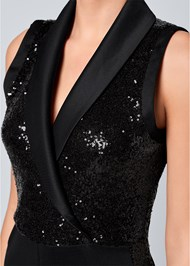 Alternate View Sequin Tuxedo Jumpsuit