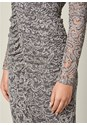 Alternate View Lace Ruched Detail Dress