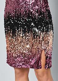 Alternate View Sequin Ombre Dress