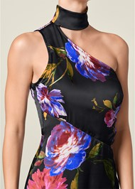 Alternate View Choker Detail Floral Dress