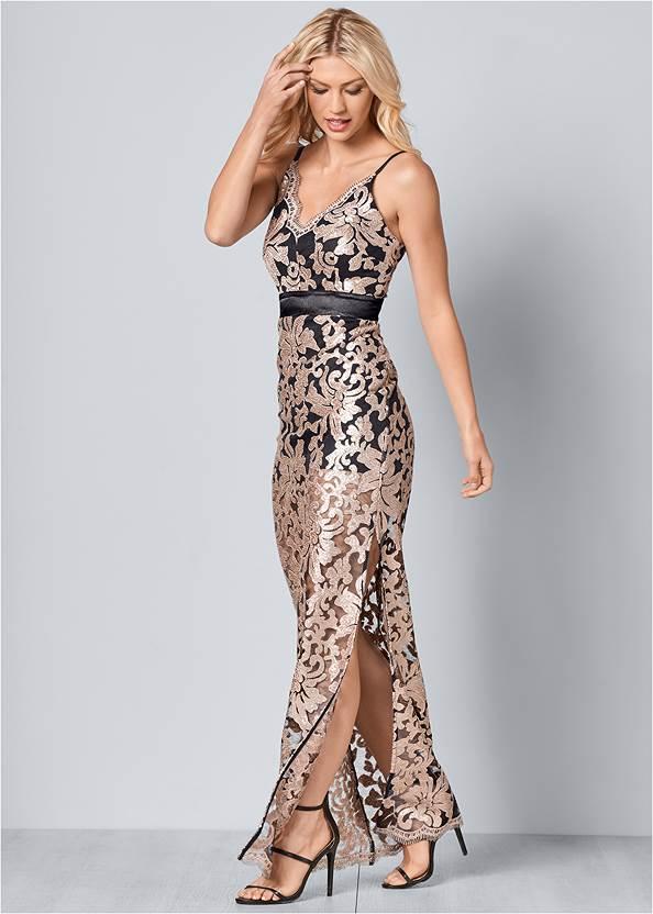 Front View Lace Long Dress