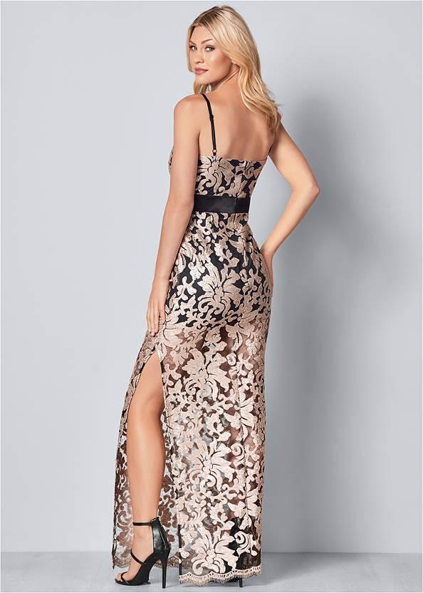 Back View Lace Long Dress
