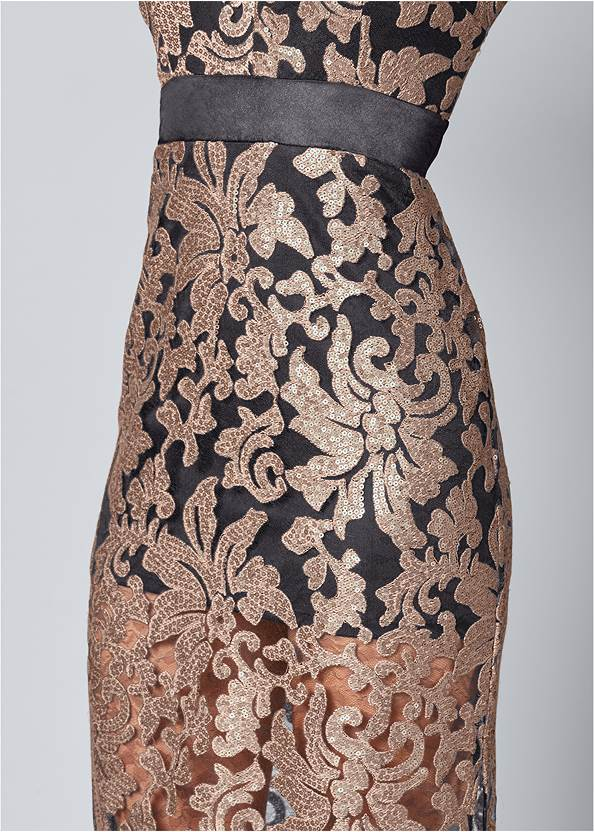 Alternate View Lace Long Dress