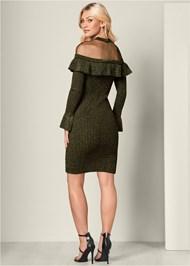 Back View Ruffle Detail Sweater Dress