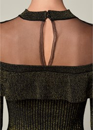 Alternate View Ruffle Detail Sweater Dress