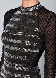 Alternate View Sequin Detail Mesh Top