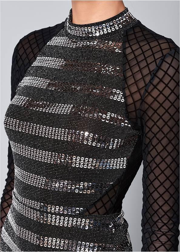 Alternate View Sequin Detail Mesh Top